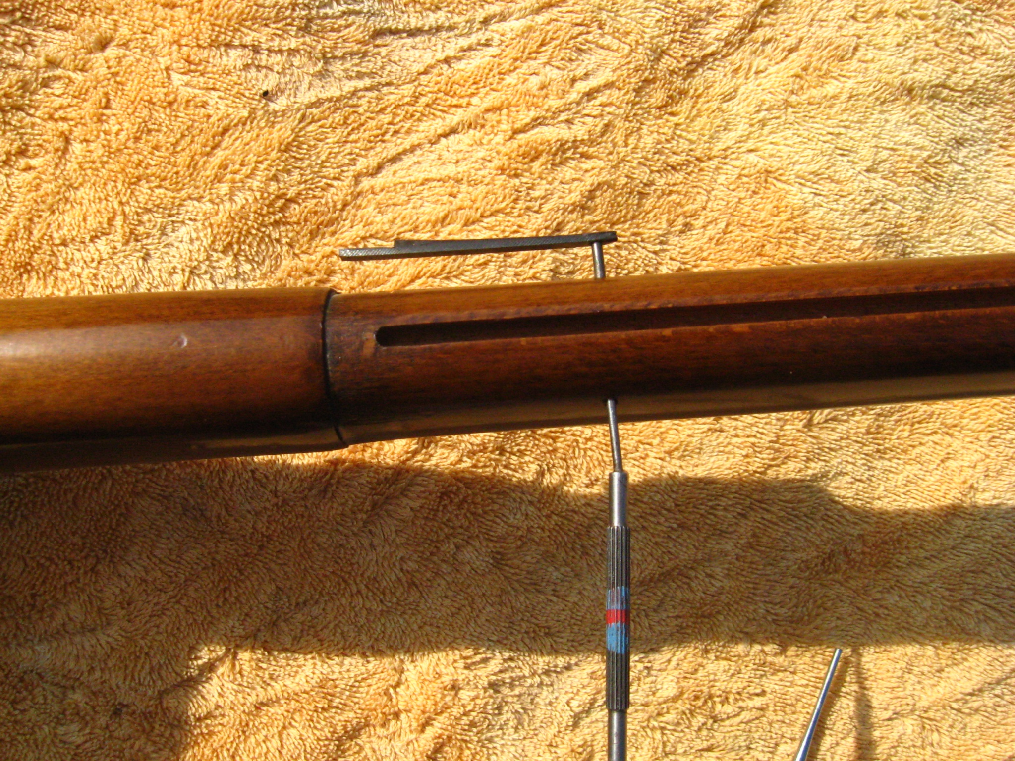 FYI -- Removing Band retainer spring on muskets Attachment